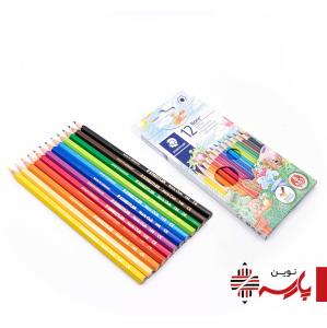 مداد رنگی 12 رنگ مقوایی استدلر