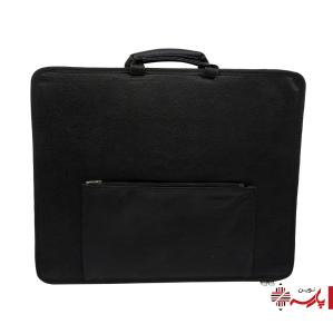 کیف طراحی آ3 چرمی و برزنتی جیبدار (رویال)