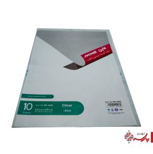 جلد چسبی 10 عددی شفاف 50*36 بی سی 0402 ماین