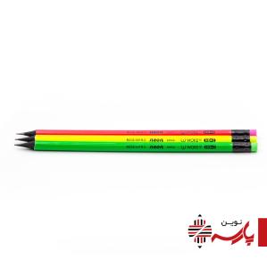 مداد مشکی چوب مشکی پاککن دار 20022 ووک