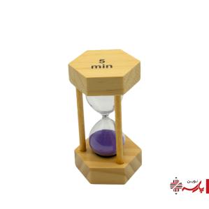 ساعت شنی چوبی 6 ضلعی 5 دقیقه