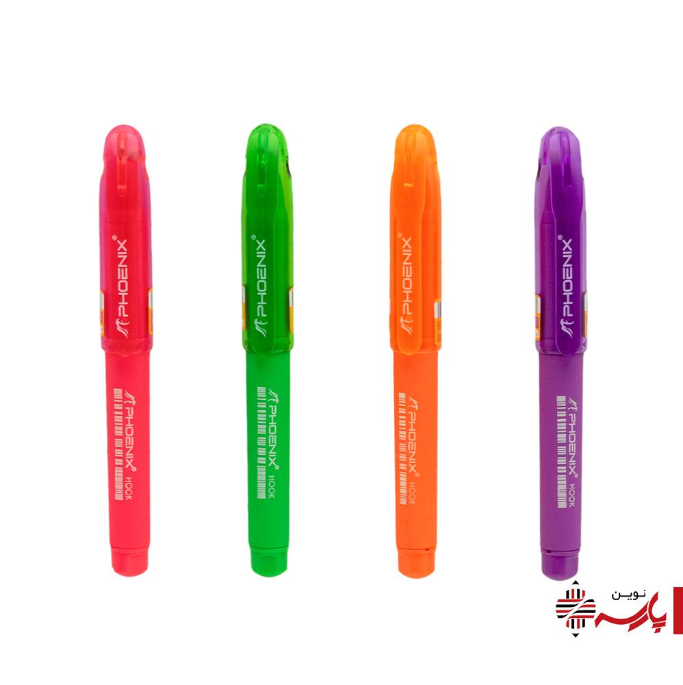 خودکار رنگی کوتاه هوک فونیکس [رنگ:صورتی]