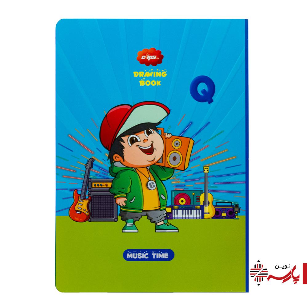 دفتر نقاشی ته چسب فانتزی 50 برگ کد 0087 کلیپس [طرح:ِِِQ]