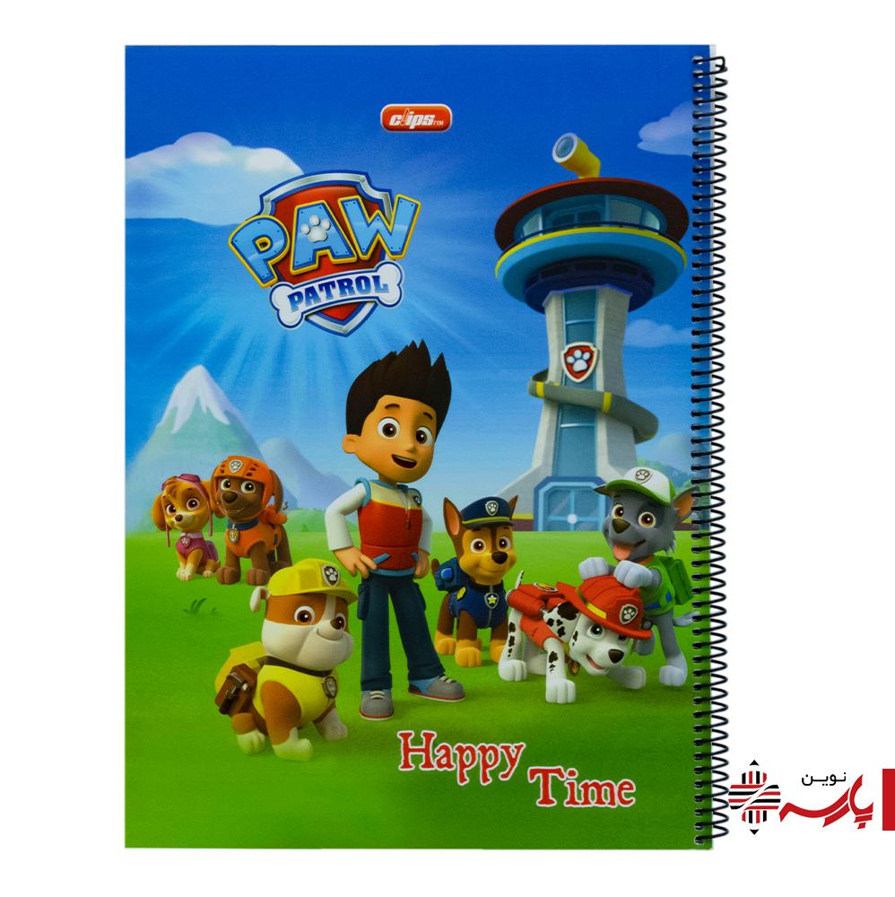دفتر نقاشی سیمی مقوایی رحلی فانتزی (بغل بازشو) 30 برگ کد 9424 کلیپس [طرح:سگ های نگهبان]